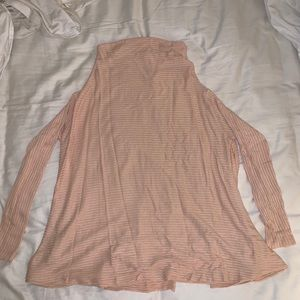 Free People Over sized plush pink top
